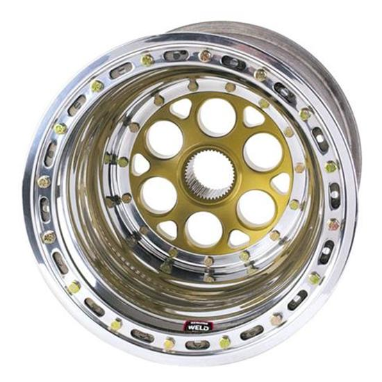 Weld Splined Left Rear Wheel - 15x14, 6 Inch Offset, Inner Beadlock