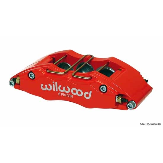 Wilwood 120-10134-RD Dynapro DP6 RH Caliper, 5.25 Inch Mount, Red