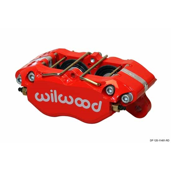 Wilwood 120-11481-RD Dynapro Dust Boot Caliper, 5.25 Inch Mount, Red