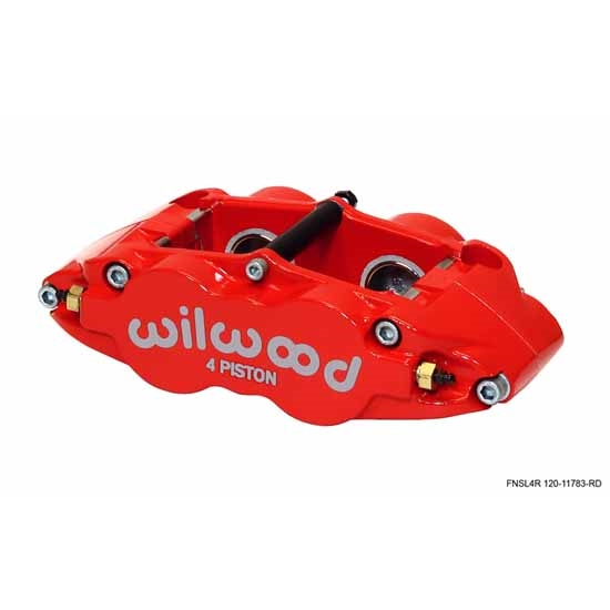 Wilwood 120-11782-RD Forged Superlite 4 Radial Mount Caliper, Red