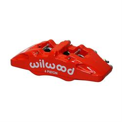 Wilwood 120-13439-RD Dynapro 6A Lug Mount Caliper, LH, Red