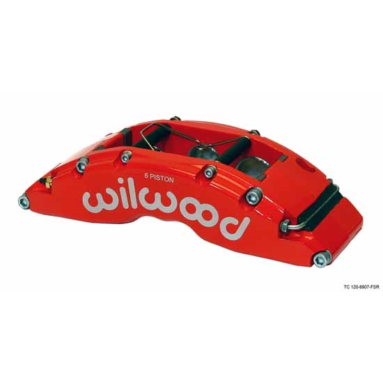 Wilwood 120-8907-FSR TC6 Radial Front Mount RH Caliper, Red