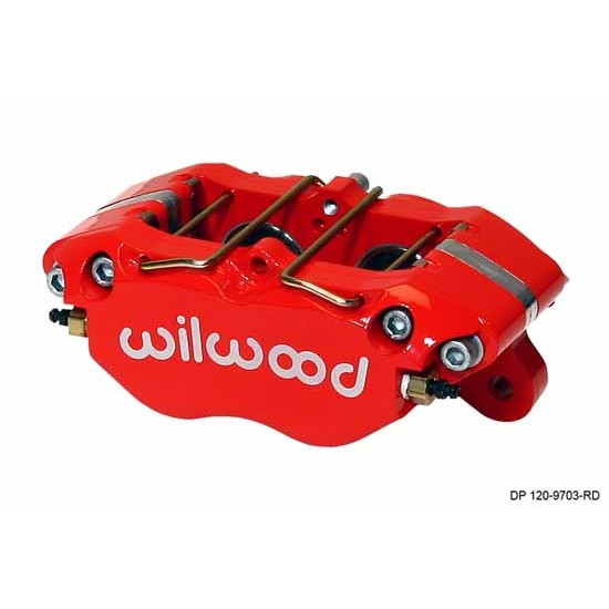 Wilwood 120-9706-RD Dynapro Lug Mount Caliper, 5.25 Inch Mount, Red