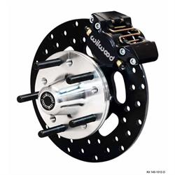 Wilwood 140-1016-D DLS Front Drag Brake Kit, 1964-74 GM, Drilled
