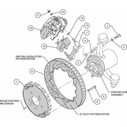 Wilwood 140-10310-DR 12.88 CBP Rear Disc Brake Kit, 00-09 Honda S2000