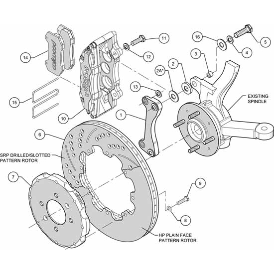 Wilwood 140 10735 Dp6 12 19 In Front Disc Brake Kit 90 11 Honda