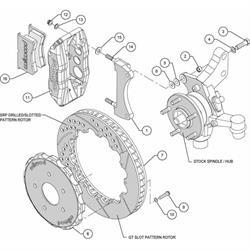 Wilwood 140-10752-D FNSL6R Front Disc Brake Kit, 2009-11 Toyota Matrix