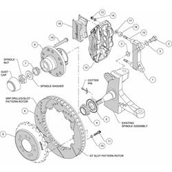 Wilwood 140-10776-D FNSL6R Front Disc Brake Kit, 1963-87 GM Pickup/SUV