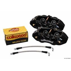 Wilwood 140-10790-BK D8-4 Rear Caliper Kit, 1965-82 Corvette C2/C3