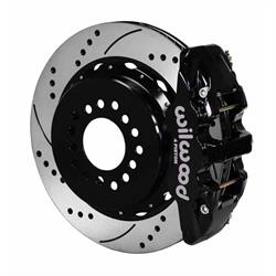Wilwood 140-10943-D AERO4 14 In. Rear Parking Brake Kit, Chevy 12 Bolt