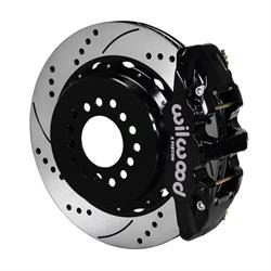 Wilwood 140-10952-D AERO4 Rear Brake Kit, Ford 8.8 w/2.5 Off -5 Lug