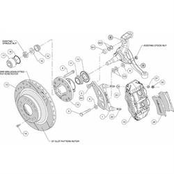 Wilwood 140-12271 FNSL6R Pro Series Front Disc Brake Kit, 1964-74 GM