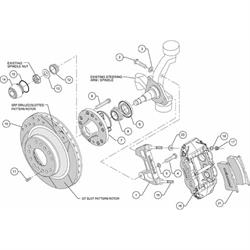 Wilwood 140-12275-D FNSL6R Front Disc Brake Kit,74-80 Pinto/Mustang II
