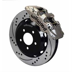 Wilwood 140-12876-DN AERO6 14 Inch Front Disc Brake Kit, 99-12 Subaru