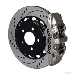 Wilwood 140-12932-DN AERO4 14.25 Rear Disc Brake Kit, 08-09 Pontiac G8