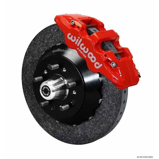 Wilwood 140-13145-CSICR AERO6 Dynamic Front Brake Kit, WWE Pro Spindle