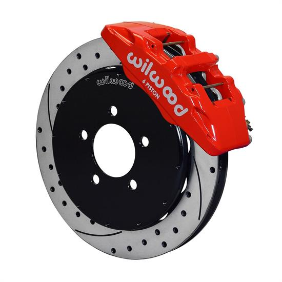 Wilwood 140-13581-DR Dynapro 6 Front Disc Brake Kit, 12.88 Inch, Red