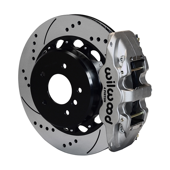 Wilwood 140-13583-DN AERO4 Rear Disc Parking Brake Kit, 14 Inch