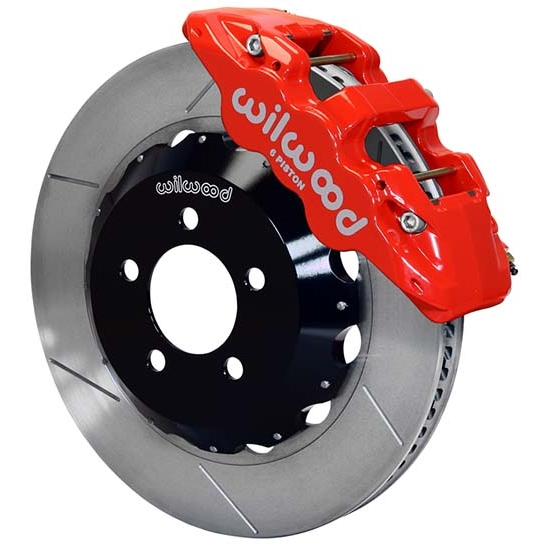 Wilwood 140-14067-R AERO6 14.25 Inch Front Brake Kit, Red Calipers