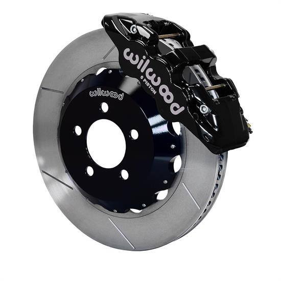 Wilwood 140-14067 AERO6 14.25 Inch Front Brake Kit, Black Calipers