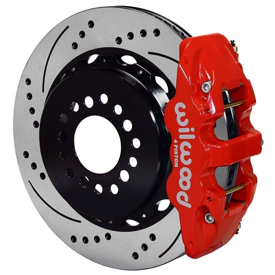 Wilwood 140-14068-DR AERO4 14 In Rear Brake Kit Parking Brake, Drilled