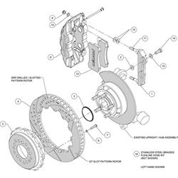 Wilwood 140-14068-D AERO4 14 In Rear Brake Kit, Parking Brake, Drilled