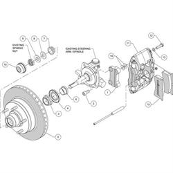 Wilwood 140-14190 Forged Superlite 4 Front Brake Kit, Black Anodized