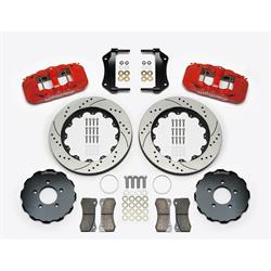 Wilwood 140-14682-DR AERO6 Big Brake Front Brake Kit, Radial, Red