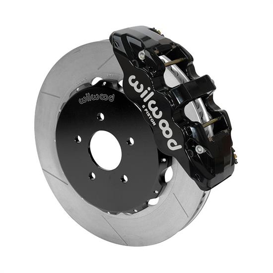 Wilwood 140-14815 AERO6 Big Brake Front Brake Kit, 14 Inch, Black