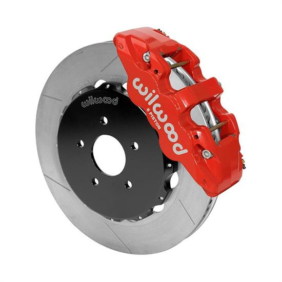 Wilwood 140-14819-R AERO6 Big Brake Front Brake Kit, 14 Inch, Red