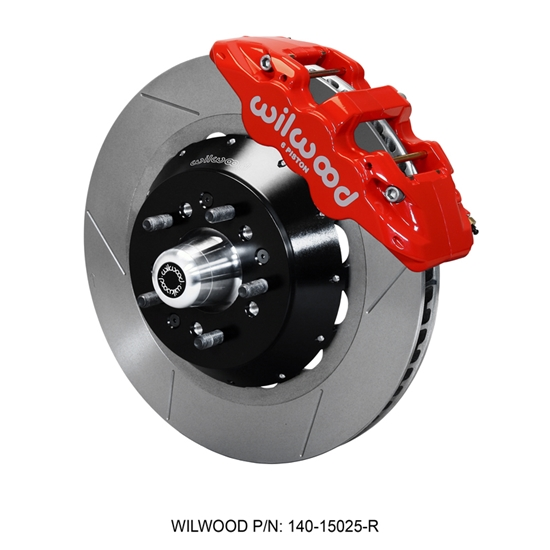 Wilwood 140-15025-R AERO6 Big Brake Front Brake Kit, Radial, Red