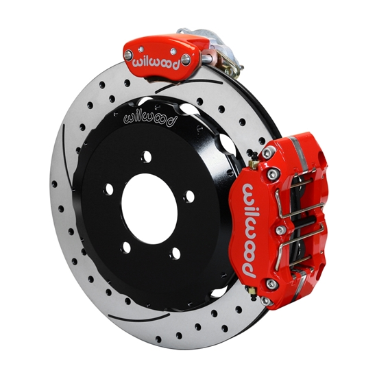 Wilwood 140-15138-DR Dynapro Radial-MC4 Parking Brake Kit, Rear, Red