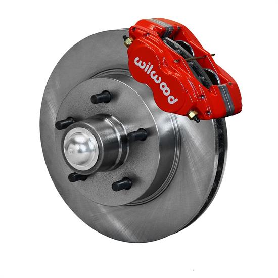 Wilwood 140-15162-R Classic Series Front Dynalite Brake Kit, Red