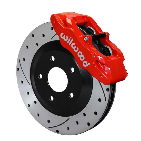 Wilwood 140-15175-DR SLC56 Front Replacement Caliper & Rotor Kit, Red