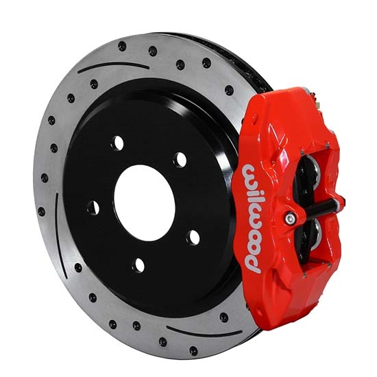 Wilwood 140-15176-DR DPC56 Rear Replacement Caliper & Rotor Kit, Red