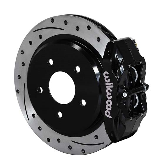 Wilwood 140-15176-D DPC56 Rear Replacement Caliper & Rotor Kit, Black