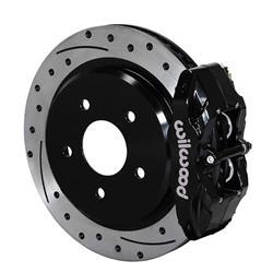 Wilwood 140-15176-D DPC56 Rear Replacement Caliper & Rotor Kit, Black