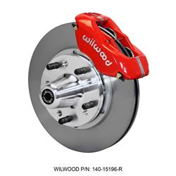 Wilwood 140-15196-R Forged Dynalite Pro Series Front Brake Kit, Red