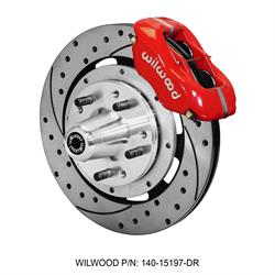 Wilwood 140-15197-DR Forged Dynalite Big Brake Front Brake Kit, Red
