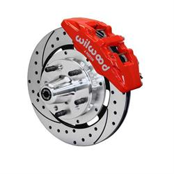 Wilwood 140-15198-DR Dynapro 6 Big Brake Front Brake Kit, Red