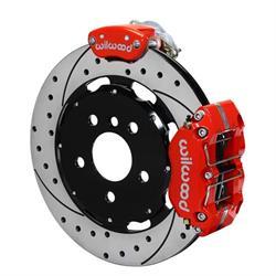 Wilwood 140-15219-DR Dynapro Radial-MC4 Rear Parking Brake Kit, Red