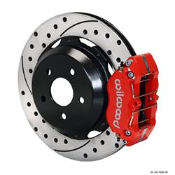 Wilwood 140-7006-DR Dynapro Lug Mount Rear Disc Brake Kit,99-08 Subaru