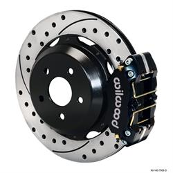 Wilwood 140-7006-D Dynapro Lug Mount Rear Disc Brake Kit, 99-08 Subaru