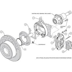 Wilwood 140-7139-DR FDLI Rear Brake Kit, Big Ford 2.36 Off