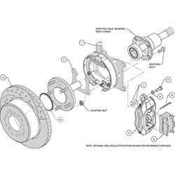 Wilwood 140-7143-D FDLI Rear Brake Kit, Small Ford 2.66 Off