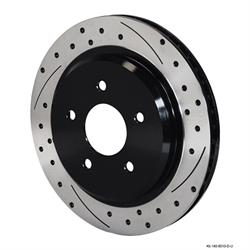 Wilwood 140-8010U-D Promatrix Rear Rotor Brake Kit, 1997-04 Corvette