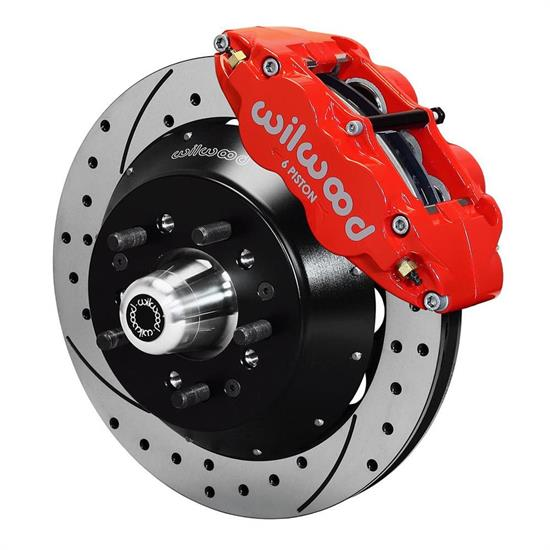 Wilwood 140-9801-DR FNSL6R Front Disc Brake Kit,74-80 Pinto/Mustang II