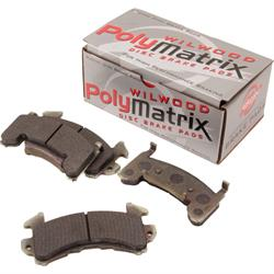 Wilwood 15B-3998K D154 PolyMatrix B Brake Pad Set, GM Metric