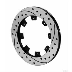 Wilwood 160-12204-BK SRP Drilled Vented RH Iron Rotor, 12.19 Inch