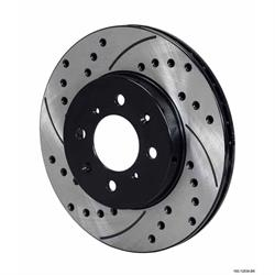 Wilwood 160-12839-BK SRP Drilled LH Rotor/Hat, .68 Inch Offset, Black
